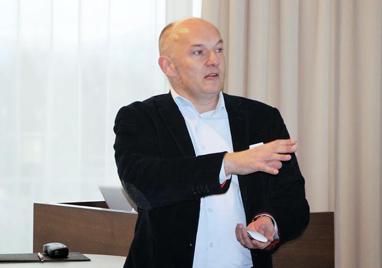 Prof. Markus Schröppel bei der Nordic Communication Conference 2014