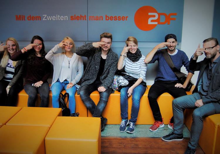 Zukünftige HMKW-Studierende besuchen das ZDF-Hauptstadtstudio