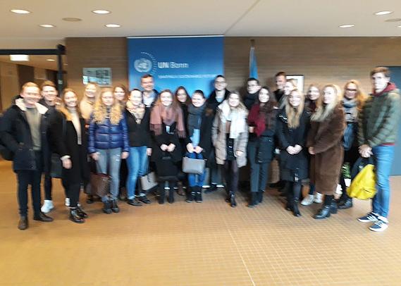 Kölner HMKW-Studierende verschiedener Master-Programme besuchten gemeinsam den UN-Campus in Bonn.