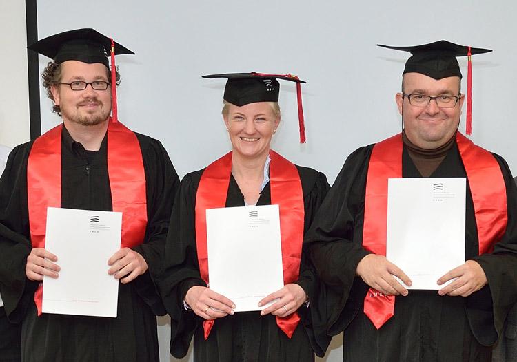 Prof. Sebastian Hirsch, Prof. Dr. Sarah Hosell, Prof. Dr. Marc Lucas (v.l.n.r.)