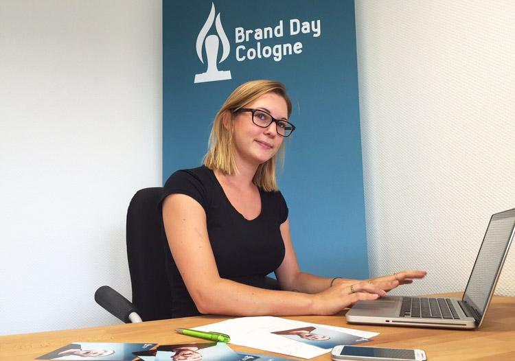 Die HMKW-Studentin Anne-Laura Sanchez organisiert für basta!media den Brand Day Cologne 2015.