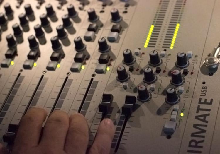 Schnappschuss aus dem Aufnahmestudio