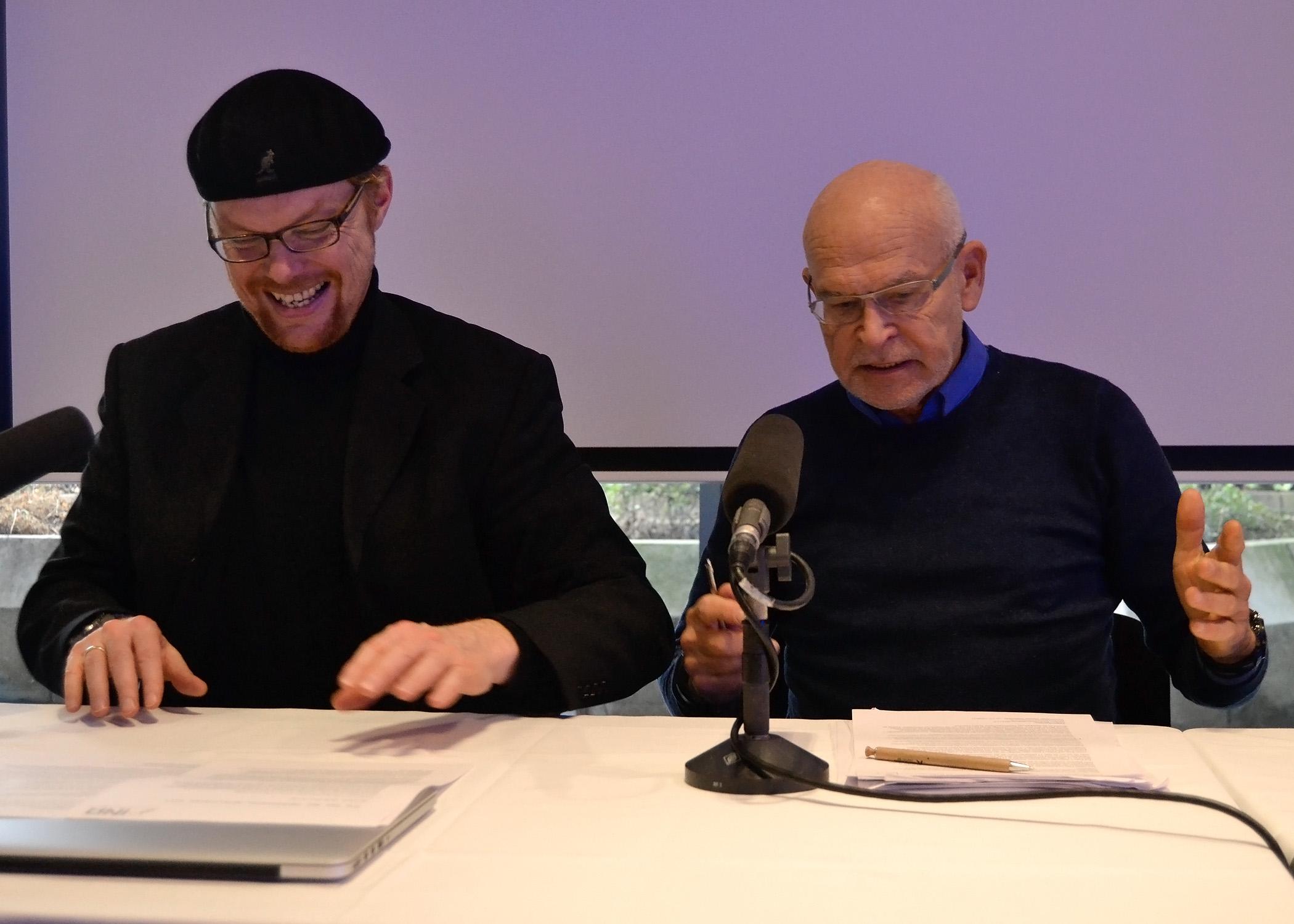Ebenfalls als INA-Mitglied auf der Pressekonferenz vertreten: Journalist Günter Wallraff.
