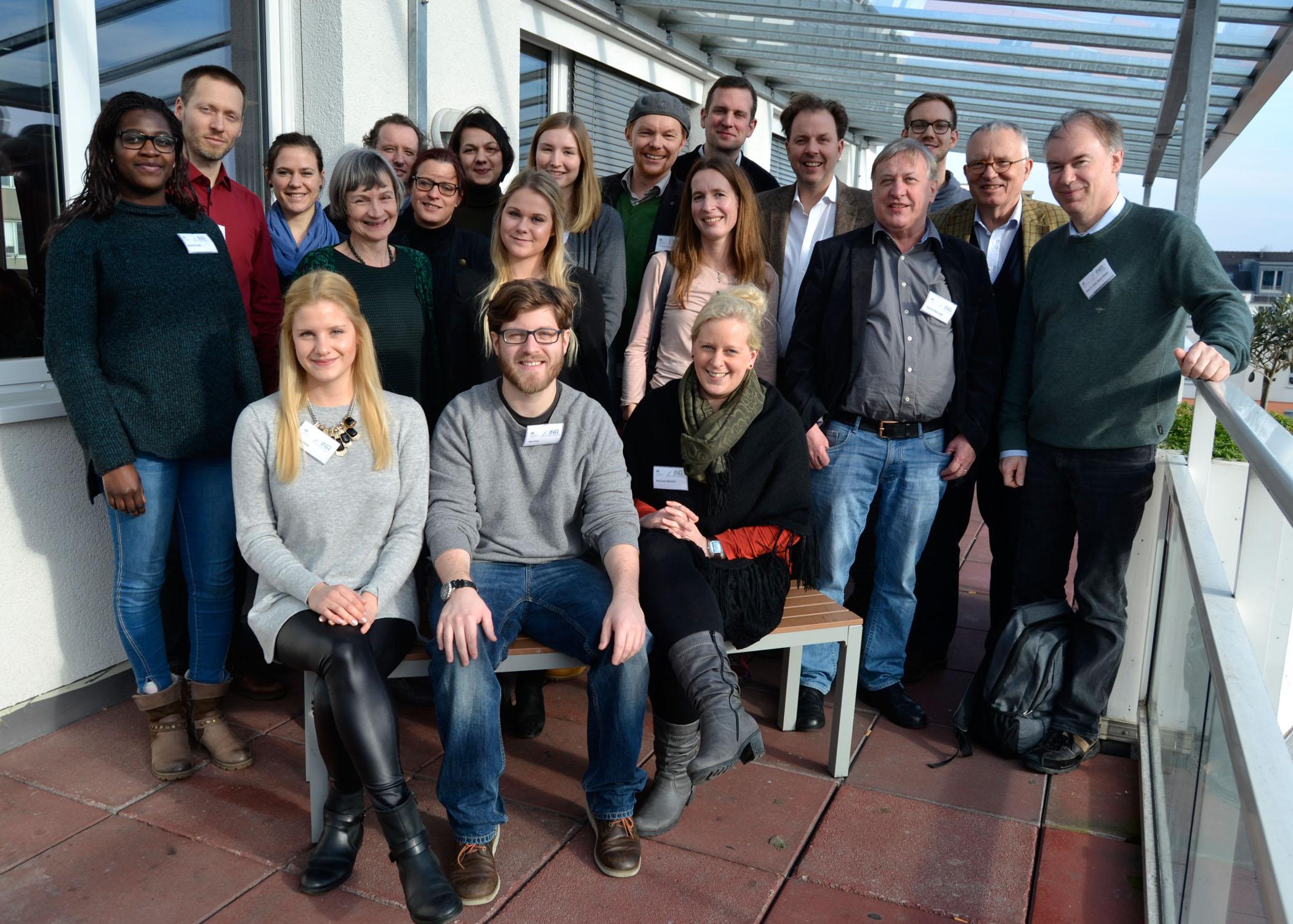 Gruppenfoto der anwesenden INA-Jury-Mitglieder