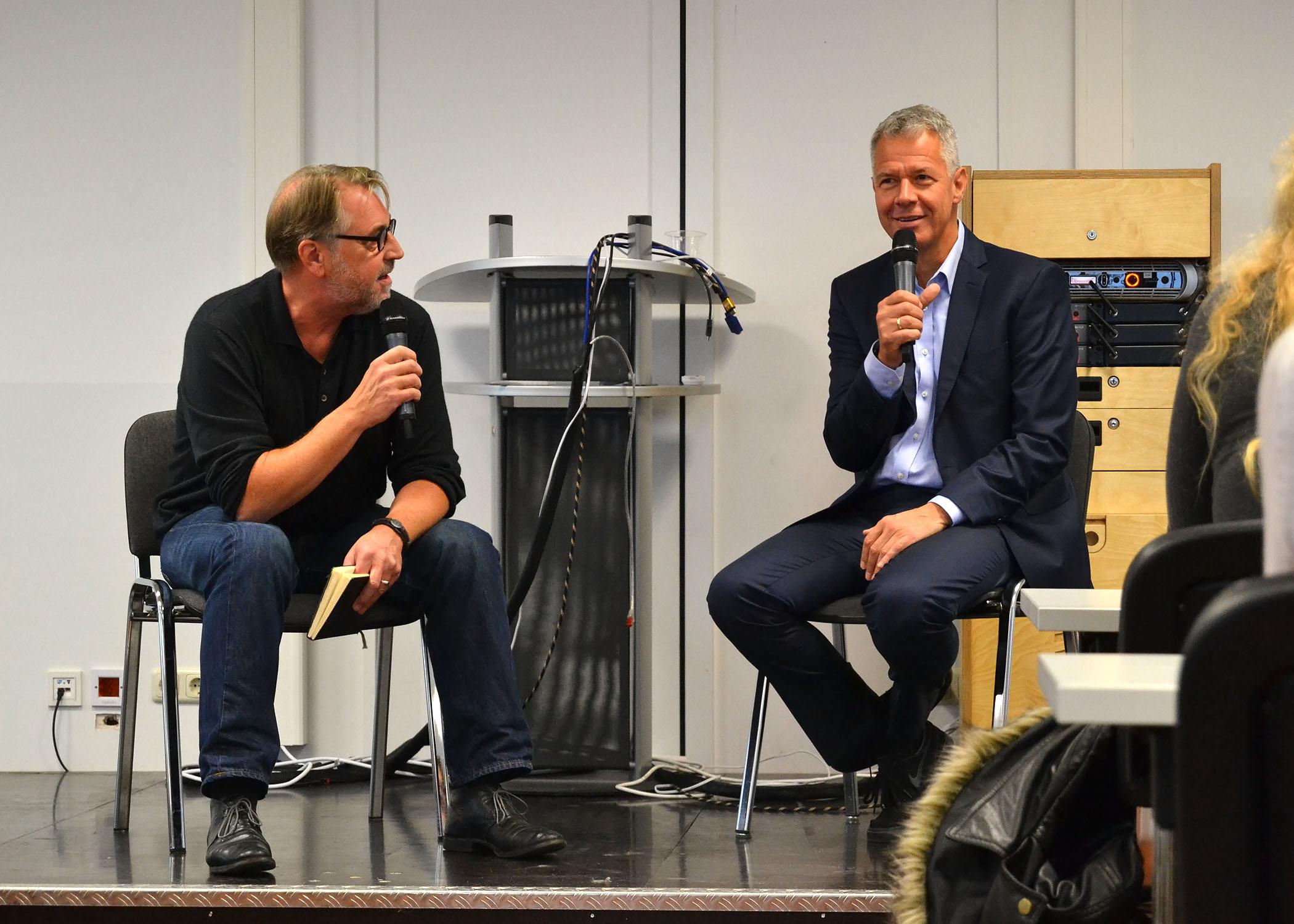 Am 25.10.2016 besuchte Peter Kloeppel die HMKW Köln zum zweiten Mal.