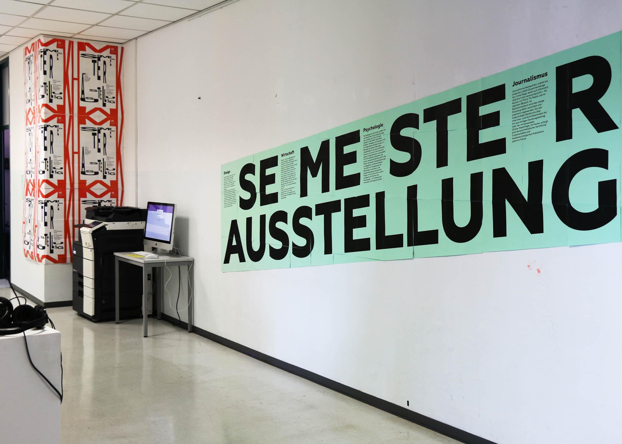 Die Semesterausstellung 2017 an der HMKW Berlin zeigte Arbeiten aus allen vier Fachbereichen Design, Journalismus und Kommunikation, Psychologie sowie Wirtschaft.