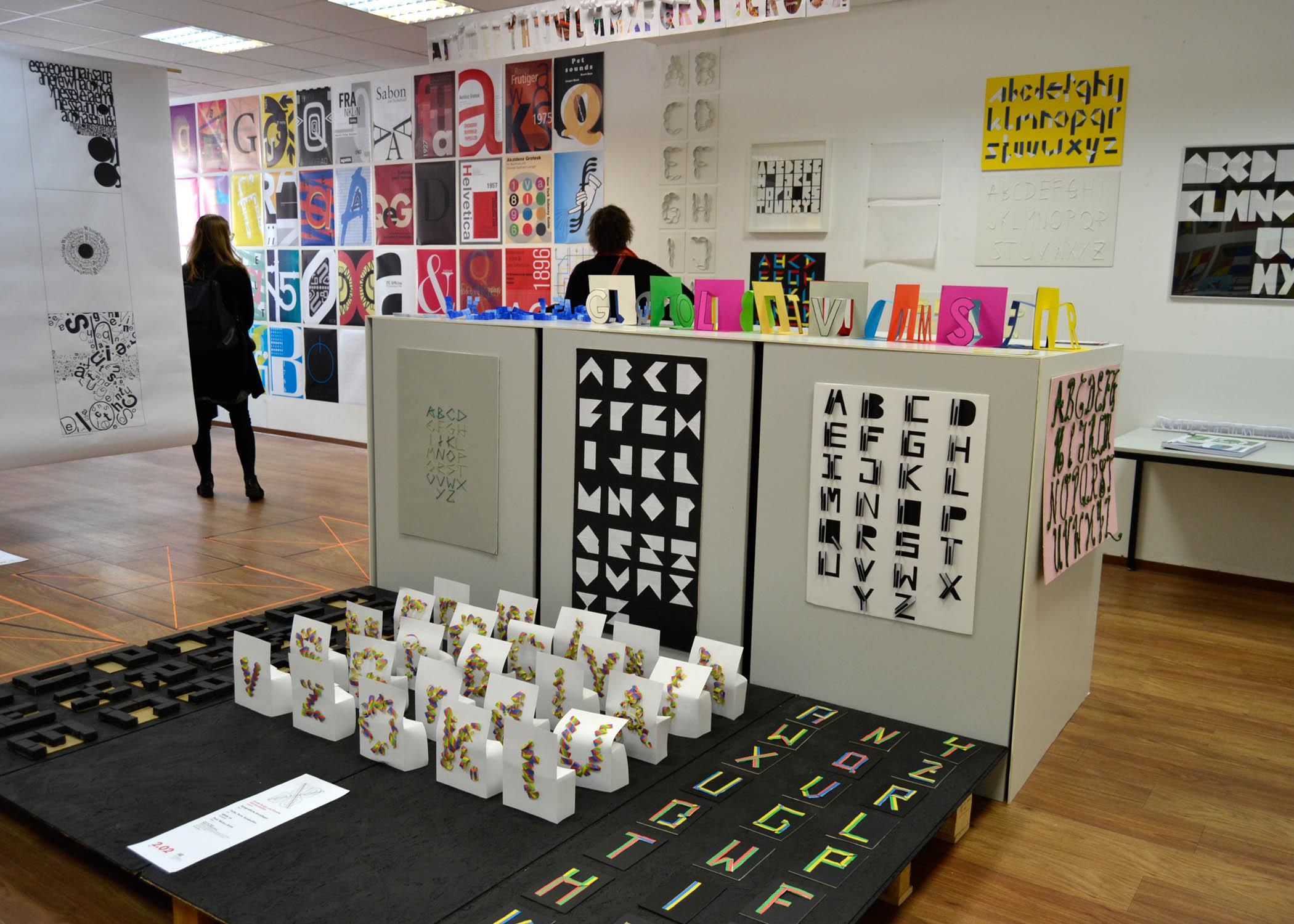 Dieser Raum war allein typographischen Arbeiten vorbehalten.