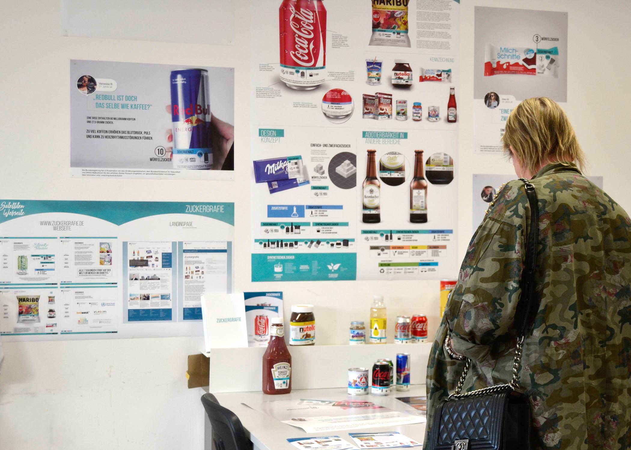 Wie könnten Produkt- und Hersteller-übergreifende Etiketten mit Zuckerangaben aussehen? In einer Abschlussarbeit wurde ein entsprechender Entwurf entwickelt.