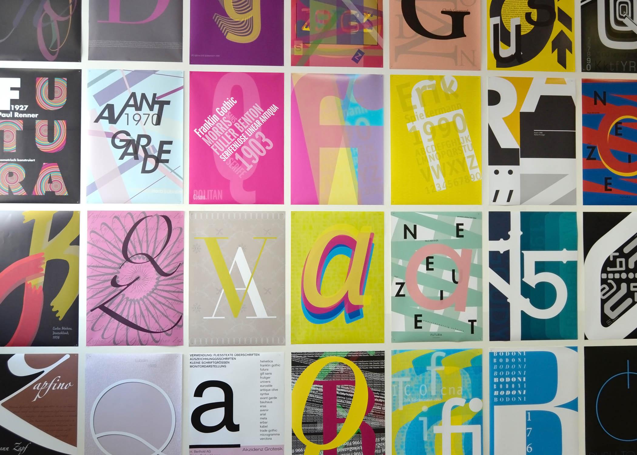 Typographie-Arbeiten