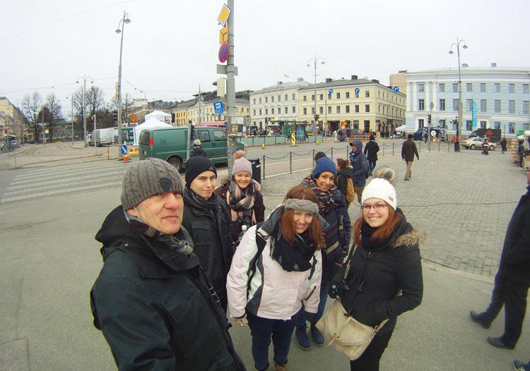 Erinnerungsfoto aus Helsinki.
