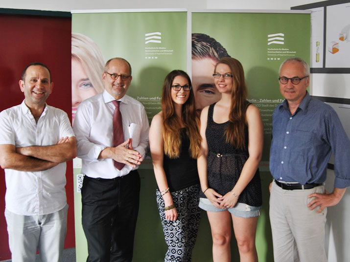 Mit Prof. Dr. Freytag (2.v.li.) und Prof. Dr. Schulz (re.)