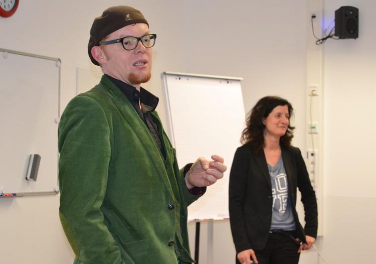 Prof. Dr. H. Haarkötter und M. Tebert