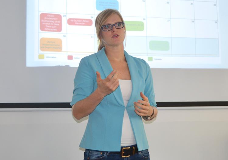 Social Media-Expertin Barbara Ward leitete das Seminar Facebook-RedaktionReferentin und Social Media-Expertin Barbara Ward