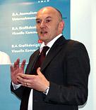 "Dipl.-Des. Markus Schröppel, Studiengangsleiter ""Grafikdesign u. Visuelle Kommunikation"""