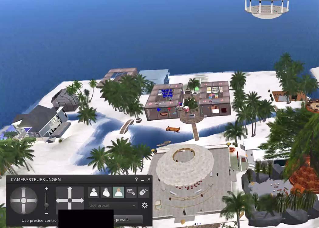 Lernen unter Palmen: Die Projektwoche findet auf der sonnigen Insel EduNation statt.