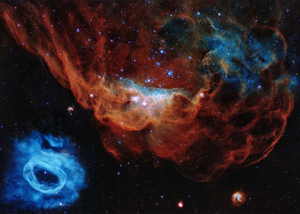 Blick in ferne Galaxien: Eine Hauptaufgabe der Tätigkeit von Lorenzo Cervantes ist es, auch Laien komplexe Zusammenhänge verständlich zu machen. (Foto:  © NASA, ESA, and STScI)