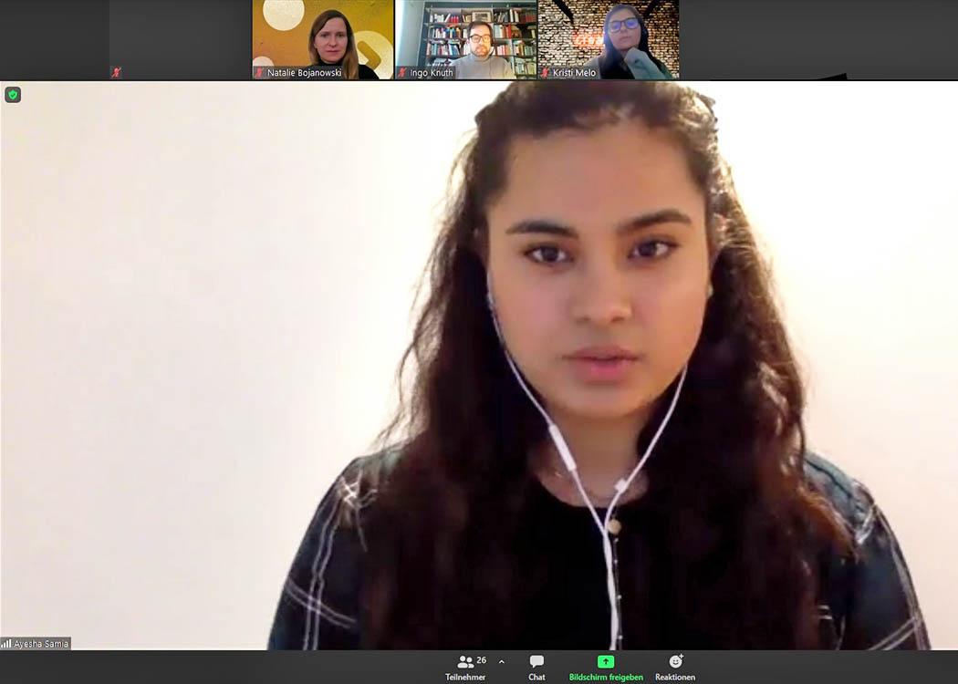 Im Februar sprach Ayesha Samia in einem Online-Event über ihre Erfahrungen als Werkstudentin bei Crealytics.