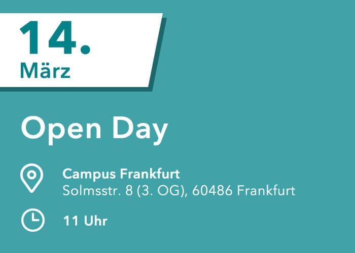 HMKW Frankfurt Medienhochschule Tag der offenen Tür / Open Day im März 14.03.2020