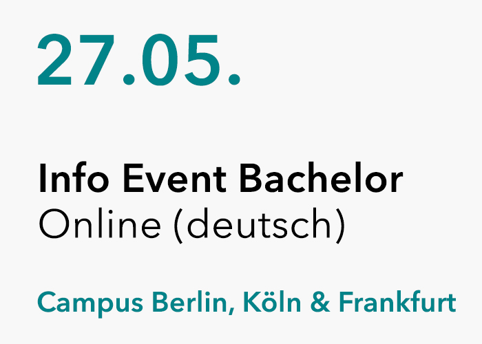 Online Info Event Bachelor (auf deutsch)